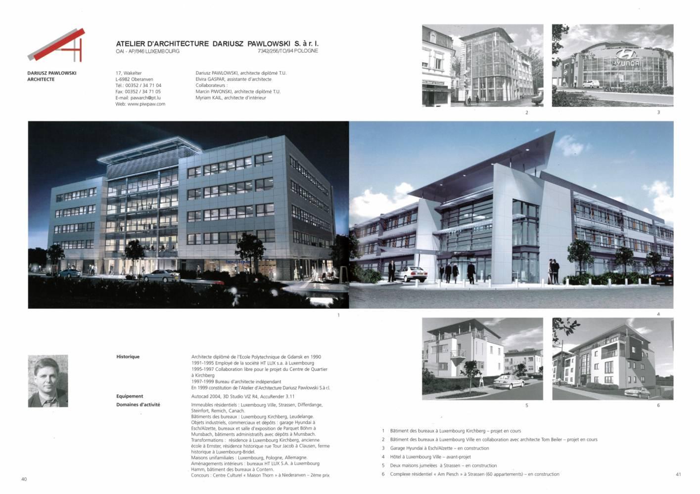 Publications - Atelier d\'Architecture Dariusz Pawlowski